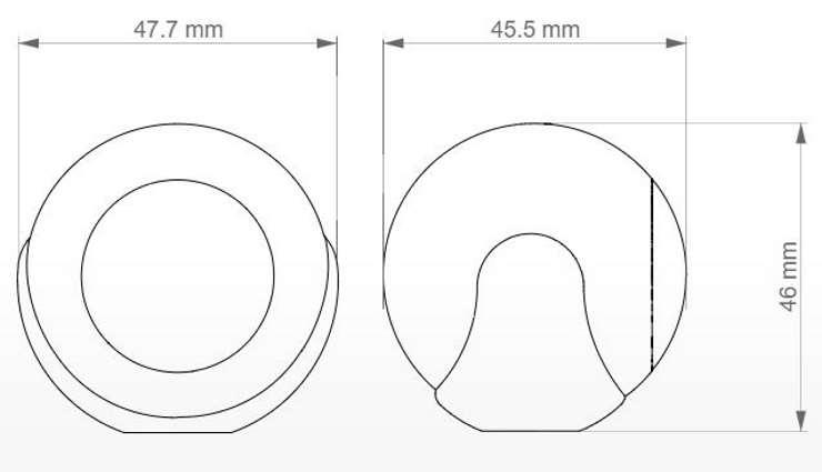 détecteur de mouvement zwave+ Fibaro fgms-001 dimension