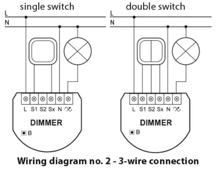 Fibaro fgd-212 dimmer 2 zwave interrupteur variateur lumière schéma avec neutre
