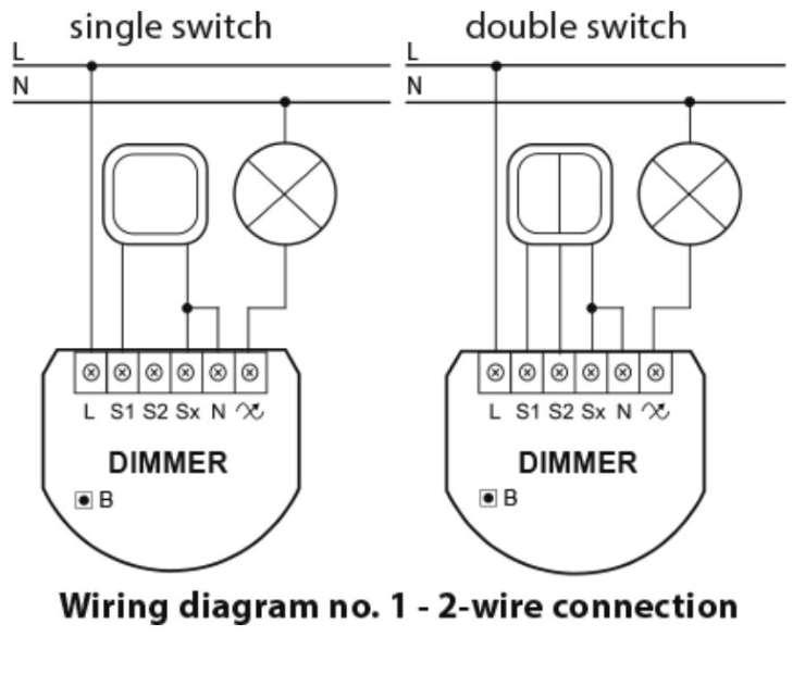 Fibaro fgd-212 dimmer 2 zwave interrupteur variateur lumière schéma sans neutre