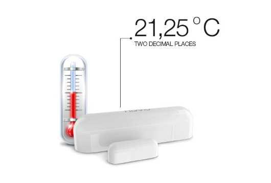 détecteur d'ouverture zwave+ avec sonde température référence Fibaro fgdw-002