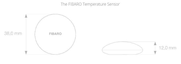 sonde température bluetooth Fibaro FGBRS-001 dimensions
