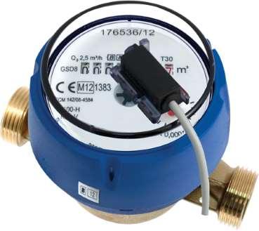 compteur eau divisionnaire à émetteur d'impulsions MID R160 Sferaco photo produit eau froide