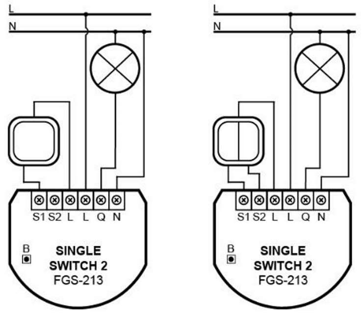 micromodule zwave Fibaro fgs-213 schéma électrique