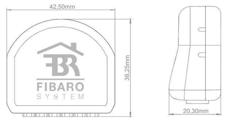 micromodule zwave Fibaro fgs-213 taille