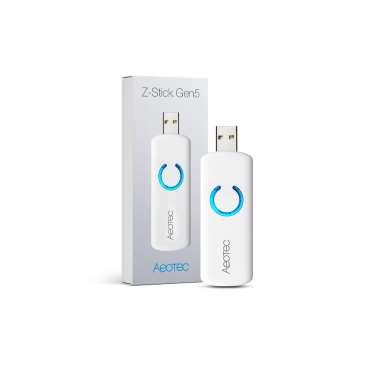 Aeotec ZW090 Z-Stick GEN5 Dongle USB Contrôleur ZWave Plus photo produit et boite