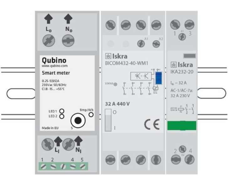Qubino Smart Meter ZMNHTD1 Module Din suivi consommation électrique ZWave plus les fonctions possibles