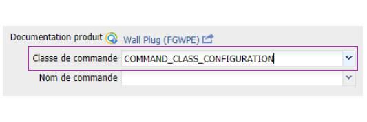 paramétrer la prise connectée Fibaro Wall-plug FGWPE-102 depuis la box domotique Eedomus classe de commande