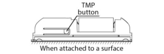 paramétrer le détecteur d'ouverture Fibaro FGDW-002 depuis la box domotique Eedomus appuyez 3 fois sur le bouton TMP sur le coté du détecteur