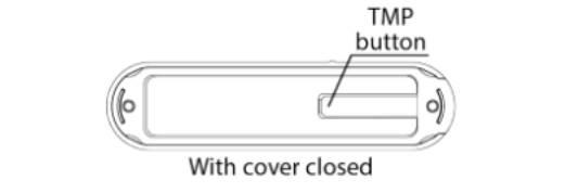 paramétrer le détecteur d'ouverture Fibaro FGDW-002 depuis la box domotique Eedomus appuyez 3 fois sur le bouton TMP situé à l'arrière du détecteur