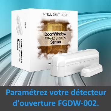 paramétrer le détecteur d'ouverture Fibaro FGDW-002 depuis la box domotique Eedomus paramétrer témoin lumineux image mise en avant