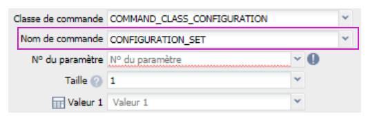 paramétrer le détecteur d'ouverture Fibaro FGDW-002 depuis la box domotique Eedomus paramétrer témoin lumineux nom de la commande