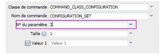 paramétrer le détecteur d'ouverture Fibaro FGDW-002 depuis la box domotique Eedomus paramétrer témoin lumineux numéro de paramètre