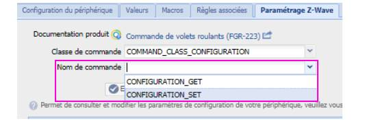 Configuration Set sur la box Eedomus
