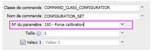 n° de paramètre du micro module Roller Shutter 3 Fibaro FGR-223