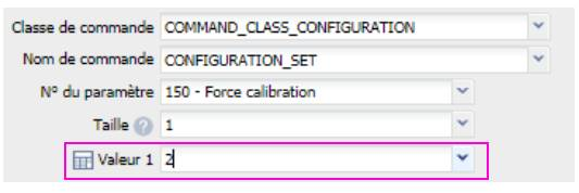 valeur paramètre 150 du micro module Roller Shutter 3 Fibaro FGR-223
