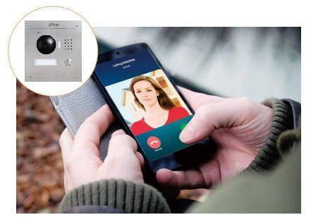 Visiophone Dahua connecté VTO2000A-2 VTH1550CHW-2 VTNC3000A VTOB108 pack répondre depuis votre smartphone