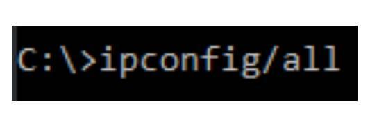 Caméra Dahua paramétrage réseau saisir ipconfig/all