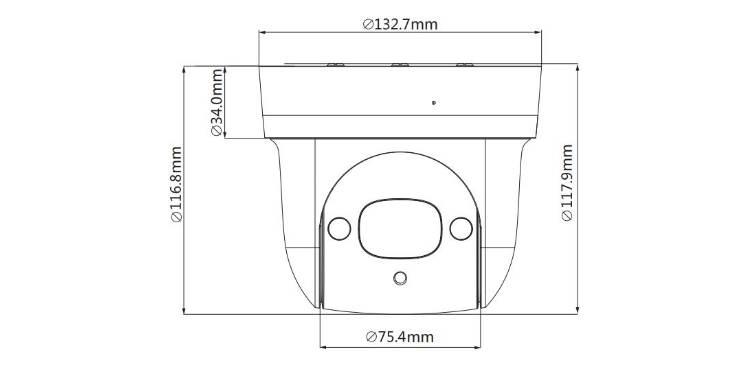 camera motorisée POE Dahua DH-SD29404t-GN dimensions produit