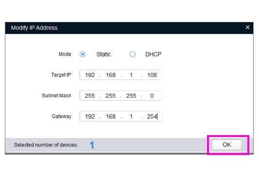 Installer et configurer une caméra dahua sur la box domotique eedomus enregistrer les informations du réseau