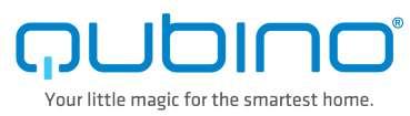 Qubino ZMNHFA1 cadre, plaque de finition pour boîte d'encastrement diamètre 58mm logo Qubino