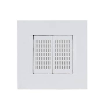 Qubino ZMNHFA1 cadre, plaque de finition pour boîte d'encastrement diamètre 58mm photo produit